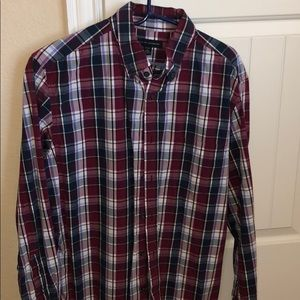 Banana Republic Purple Flannel
